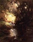 Thomas Moran The Bathers painting