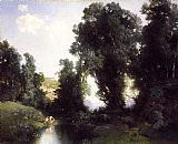 Thomas Moran The Bathing Hole, Cuernavaca, Mexico painting