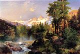 Thomas Moran The Three Tetons painting