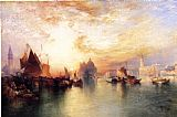 Venice paintings - Venice, from near San Giorgio by Thomas Moran