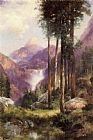 Thomas Moran Yosemite Valley Vernal Falls painting