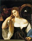 Titian woman with a mirror painting
