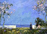 Tom Mostyn Garden Terrace painting