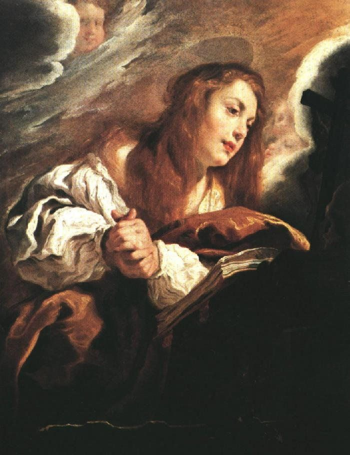 Unknown Artist Saint Mary Magdalene Penitent By Domenico Feti