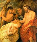 Mary Magdalene paintings - Christ and Mary Magdalene by Rubens by Unknown Artist