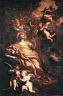 Unknown Artist Magdalene in the Desert by Domenico Piola 1674 painting