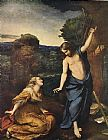 Mary Magdalene paintings - Noli me Tangere By Corregio 1525 by Unknown Artist