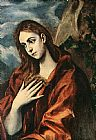 Mary Magdalene paintings - Penance of Mary Magdalene By El Greco by Unknown Artist