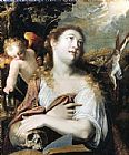 Mary Magdalene paintings - Penitent Magdalene By Joseph Heintz by Unknown Artist