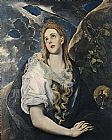 Mary Magdalene paintings - Saint Mary Magdalene By El Greco by Unknown Artist