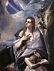 Mary Magdalene paintings - The Magdalene By El Greco by Unknown Artist