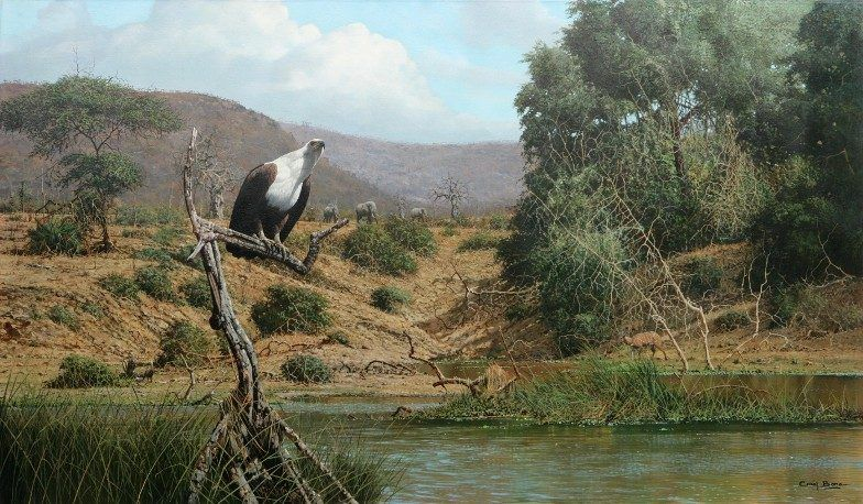 Unknown Artist Fish Eagle by Craig Bone