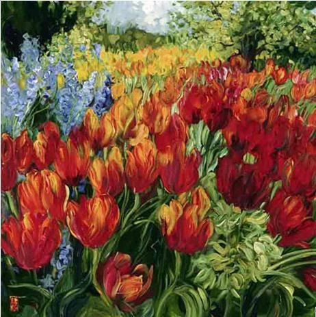 Unknown Artist Tulips by Bobbie Burgers