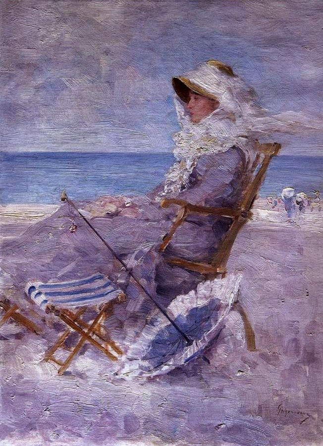Unknown Artist Woman on the Sea Shore