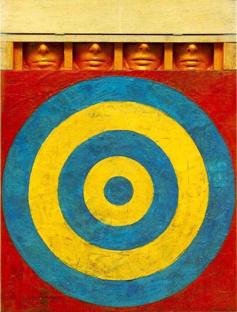 Unknown Artist jasper johns Target with Four Faces