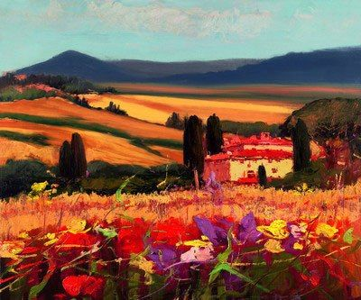 Unknown Artist tuscan landscape