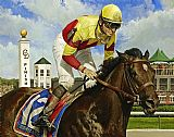 Horse Racing paintings - Fusaichi Pegasus by Unknown Artist