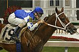 Unknown Artist Smarty Jones painting