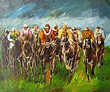 Horse Racing paintings - hosr04 by Unknown Artist