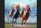 Horse Racing paintings - hosr12 by Unknown Artist