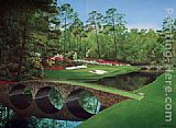Unknown Artist 12th-hole-augusta-golden-bell painting