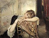 Unknown Artist Albert Edelfelt Virginie painting