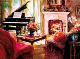 Piano paintings - At Peace by Unknown Artist