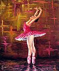 Dancer paintings - Ballerina by Unknown Artist