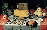 Unknown Artist Breakfast Stil Life Floris van Dyke painting