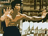 Sports paintings - Bruce Lee by Unknown Artist