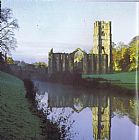 Unknown Artist Fountains Abbey painting