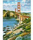 Unknown Artist Golden gate painting