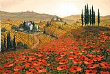 Unknown Artist Hills of Tuscany II painting