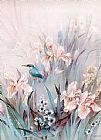 Unknown Artist Kingfisher and Iris painting