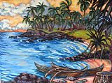 Unknown Artist Koloa Landing painting