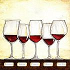Wine paintings - Les Vins Rouges by Unknown Artist