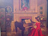 Music paintings - M Ditlef sonata by Unknown Artist