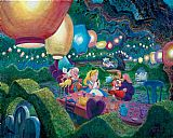 mad dogs Paintings - MAD HATTER'S TEA PARTY