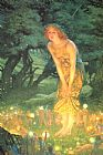 Unknown Artist Midsummer eve by Edward Robert Hughes painting