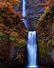 the oregon trail Canvas Prints - Multnomah Falls, Oregon