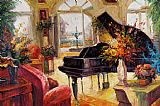 Piano paintings - Muzi002 by Unknown Artist