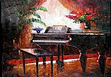 Piano paintings - Muzi003 by Unknown Artist