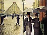 Street paintings - Paris Street Rainy Weather by Gustave Caillebotte