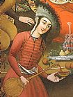 Wine paintings - Persian woman pouring wine by Unknown Artist