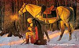 Knight paintings - Prayer At Valley Forge by Unknown Artist