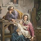 Unknown Artist Sacred Family painting