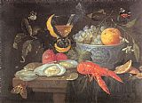 Unknown Artist Still Life with Fruit and Shellfish painting