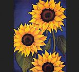 Unknown Artist Sunflowers by Will Rafuse painting