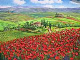 Poppies paintings - TUSCANY POPPIES by Unknown Artist