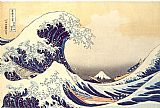 Seascapes paintings - The Great Wave at Kanagawa by Katsushika Hokusai by Unknown Artist